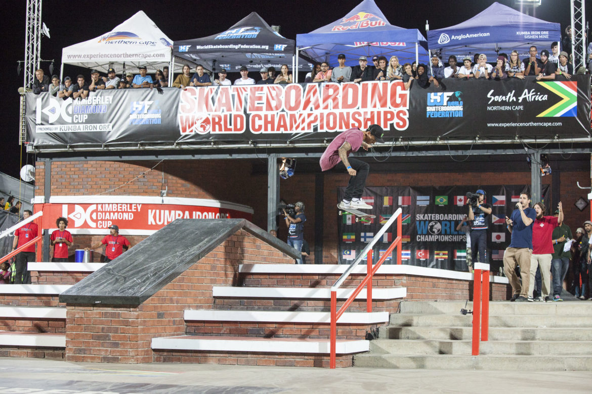 Nyjah Huston Edges Out Luan Oliveira to Win Skateboarding World Championships at Kimberley Diamond Cup