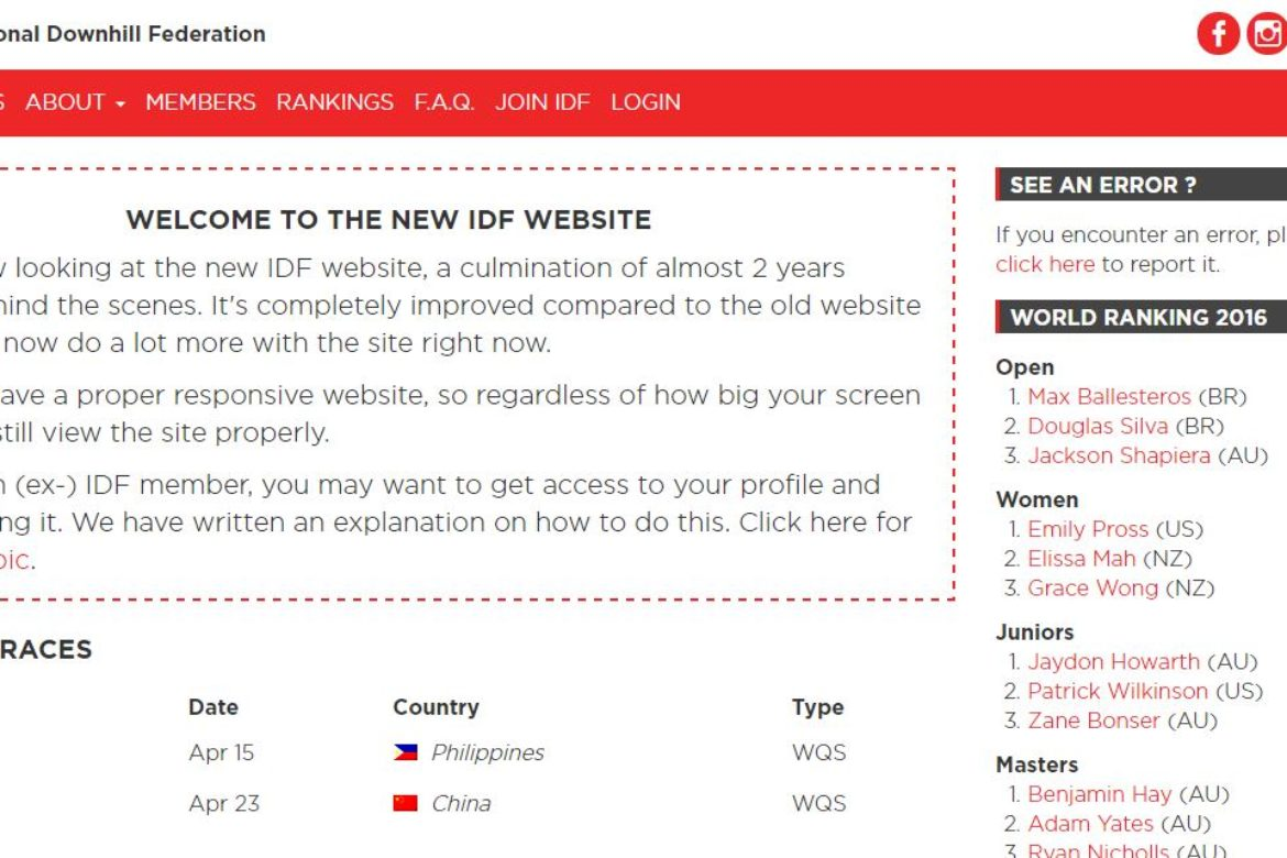 It's all happening!  IDF Website Launch, AGM, and Race Registrations