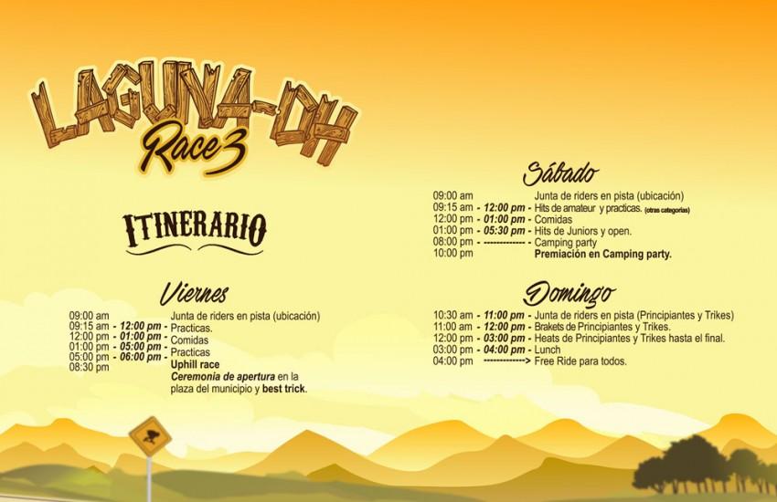 Laguna DH 2016 schedule