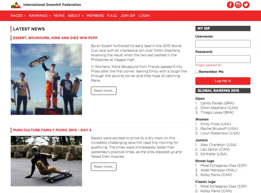 Screenshot new IDF site